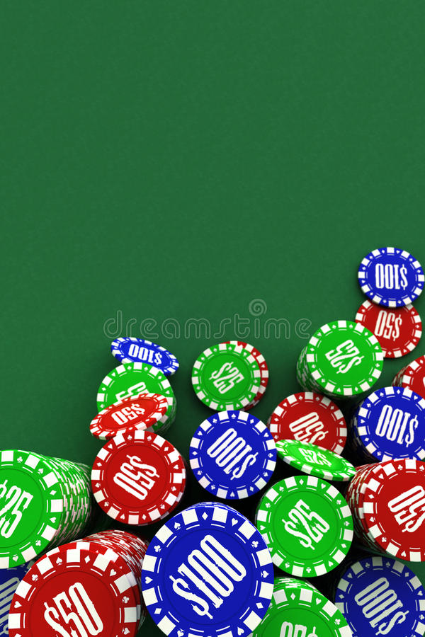 Poker chips background stock image. Image of organized ...