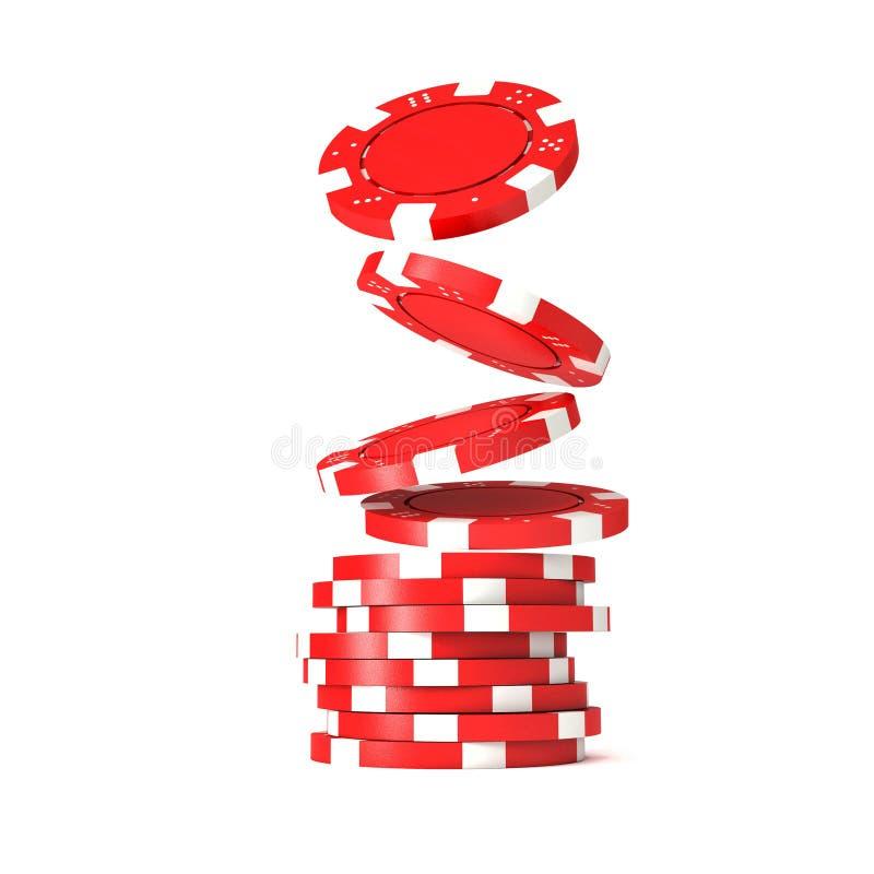 Poker chips vector illustration