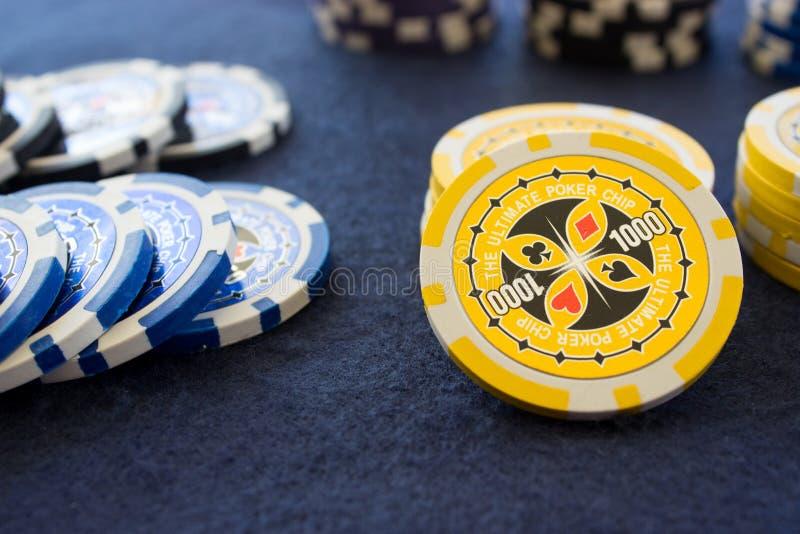Poker chips 1000 Denomination royalty free stock photography