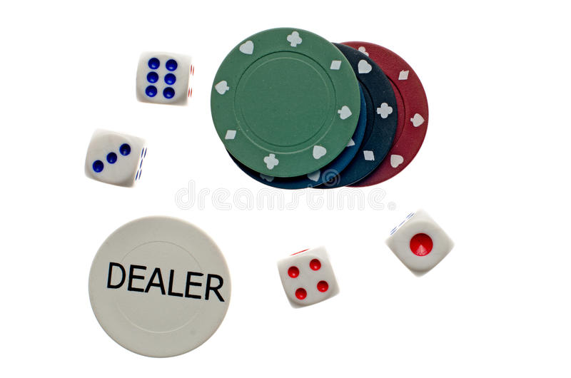 Download Poker chips and dice stock image. Image of risk, play - 20183779