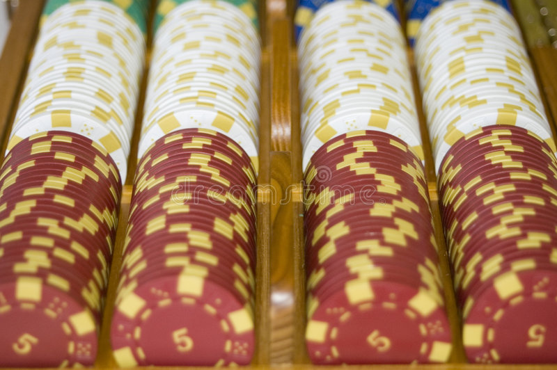 Download Poker Chips In A Line Royalty Free Stock Image - Image: 1714106