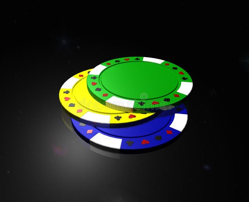 Poker chips royalty free illustration