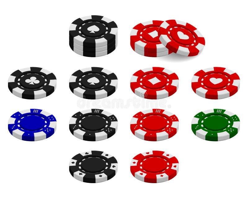 poker chips set isolated on white background stock vector rh dreamstime com poker chip vector png poker chip vector image