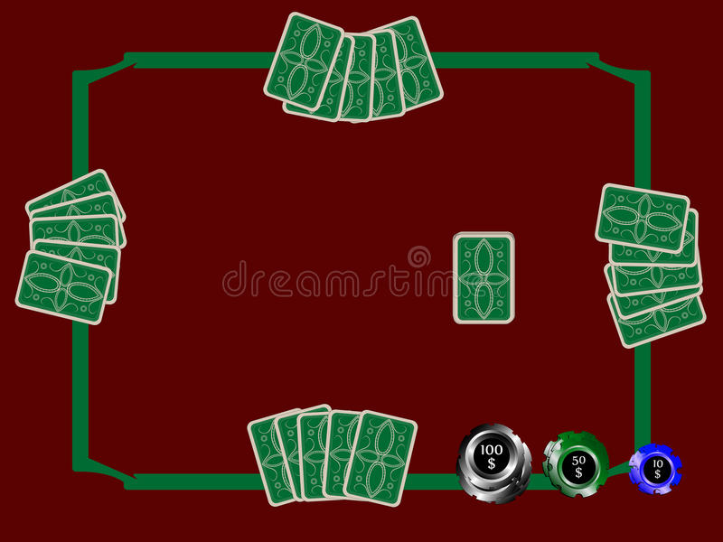 Poker chips and table vector illustration