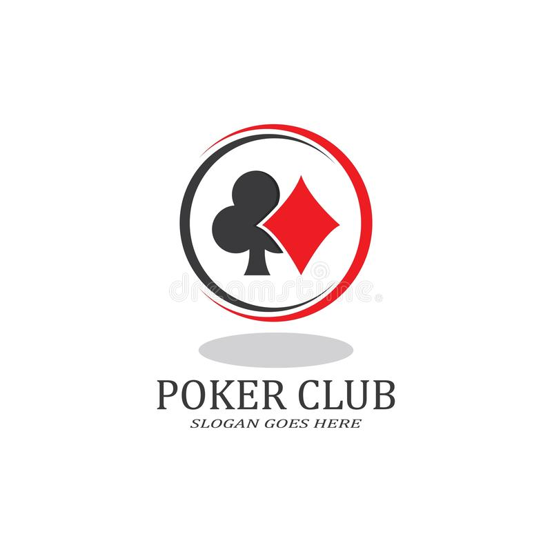 Free Poker Club Logo Design For Casino Business, Gamble, Card Game, Speculate, Etc. Royalty Free Stock Photo - 167256355