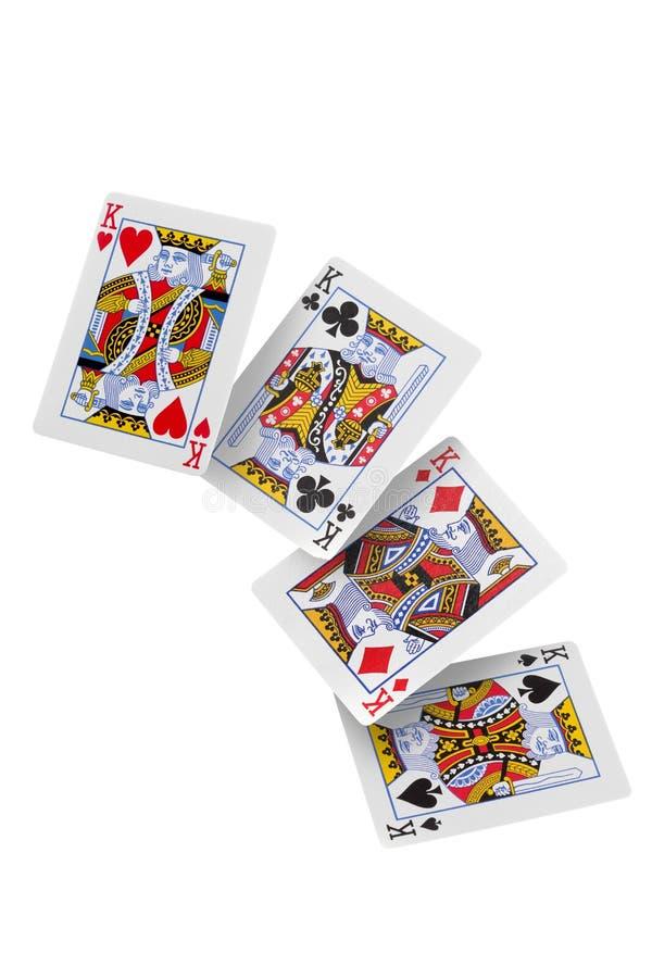 Poker de reis isolados em fundo branco com caminho de recorte e espaço de cópia para seu texto fotos de stock royalty free