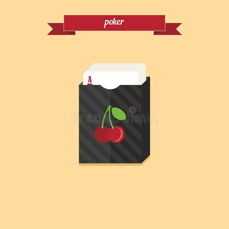 Poker deck royalty free stock photography
