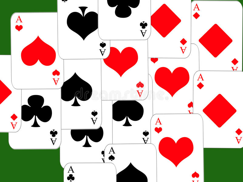 Poker. Design cards for hazard playing on white background vector illustration