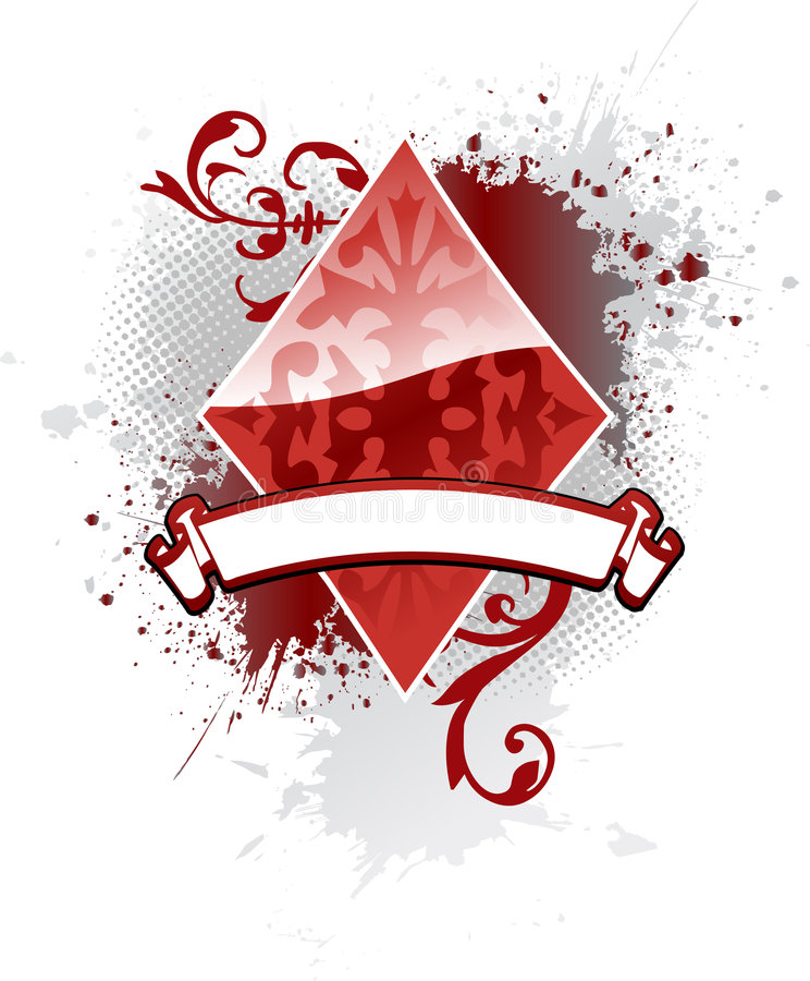 Poker Diamond stock images