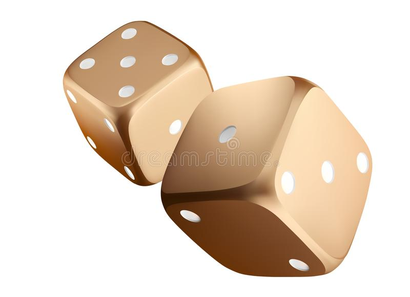 Poker Dice View Of Golden White Dice Casino Gold Dice On White Background Online Casino Dice Gambling Concept Isolated On White Stock Illustration Illustration Of Gambling Fortune 116672929