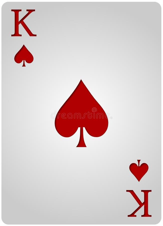 Poker för konungkortspadar royaltyfri illustrationer