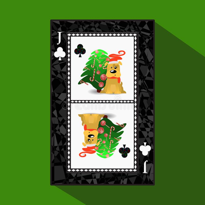 Poker för ` s för nytt år för kort illustration stock illustrationer