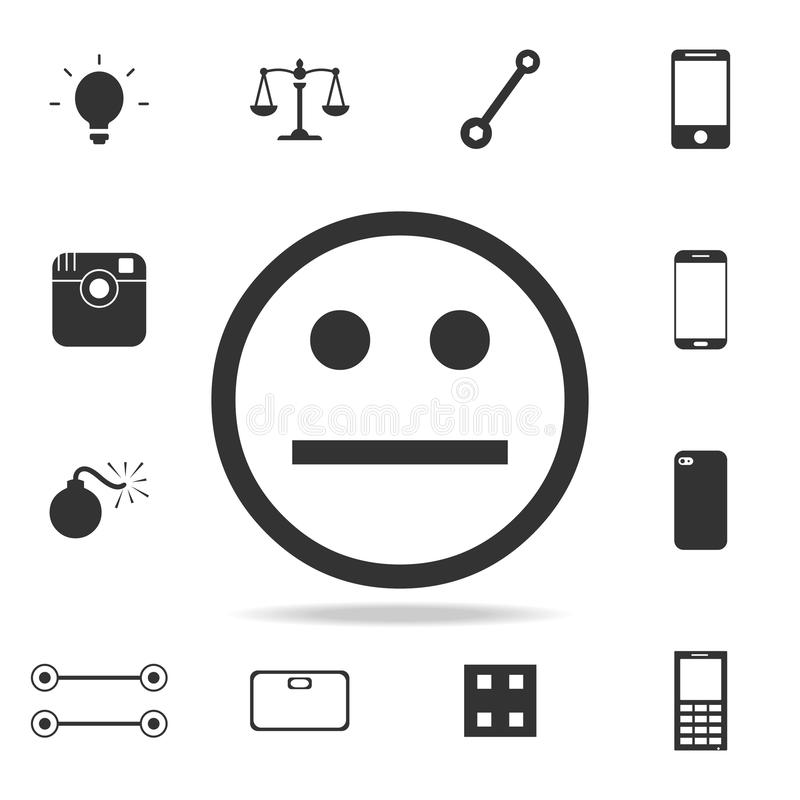 Poker face emoticon icon. Detailed set of web icons. Premium quality graphic design. One of the collection icons for websites, web vector illustration