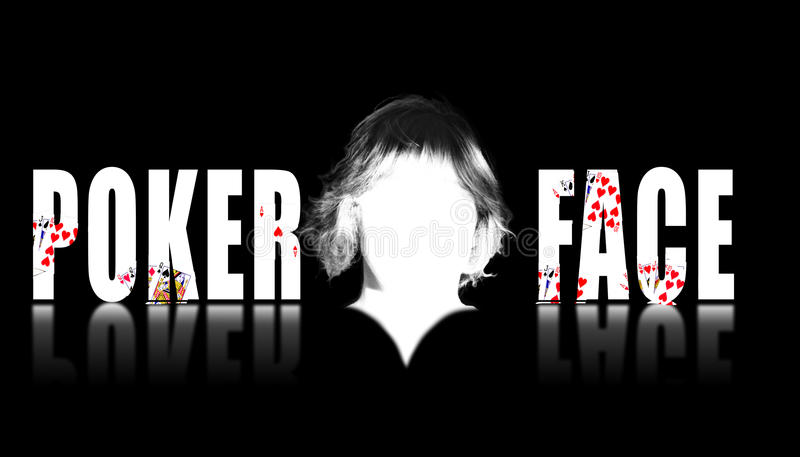 Download Poker Face Text With A Blank Face In The Middle Stock Illustration - Illustration: 12594485