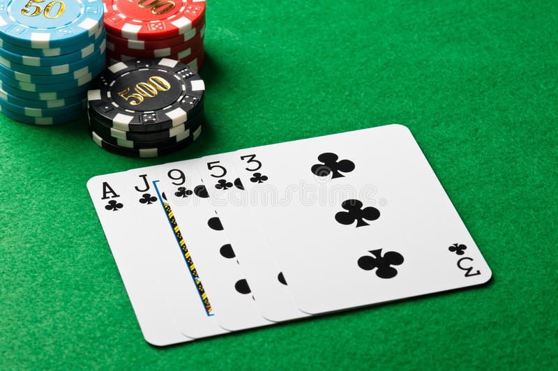 Download Poker flush stock image. Image of blue, chance, concept - 26079329