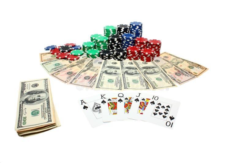 Poker gambling royalty free stock images