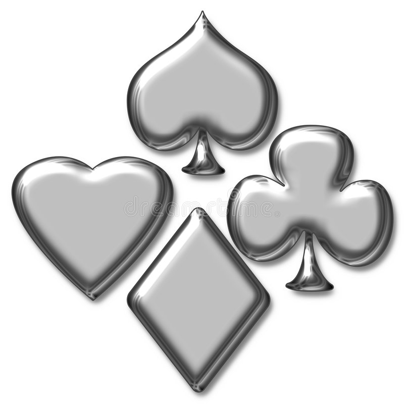 Poker game stock illustration