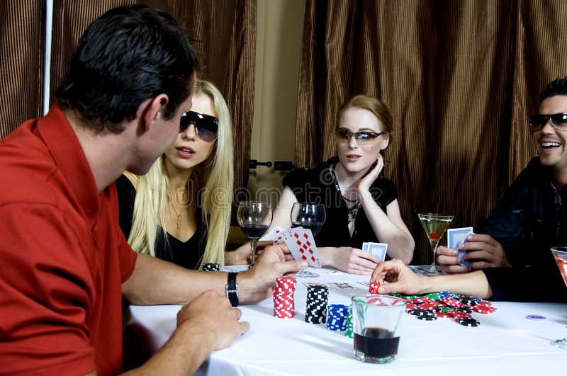 Download Poker game stock image. Image of beautiful, group, cheat - 719647