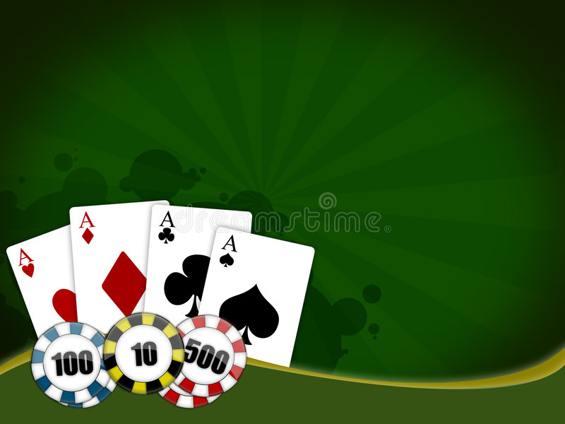 Poker game royalty free illustration