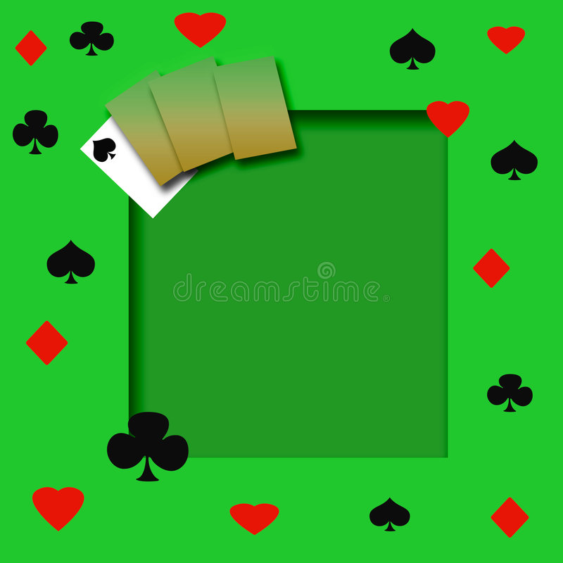 Poker game frame. On cutout background scrapbook page royalty free illustration