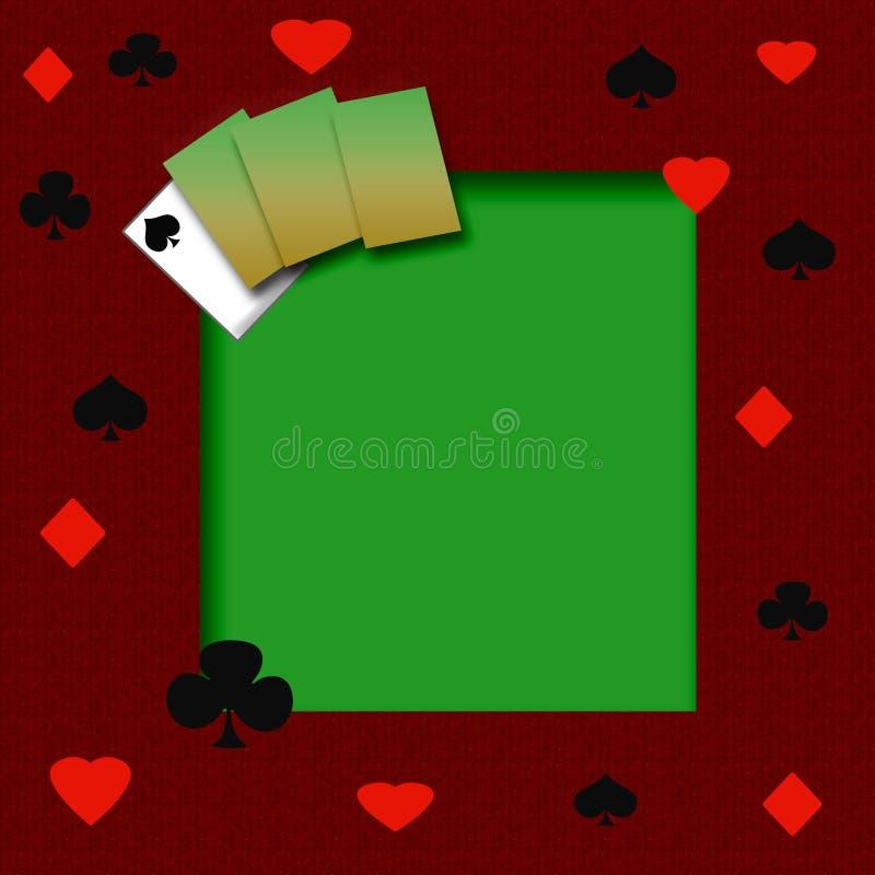 Poker game frame royalty free illustration