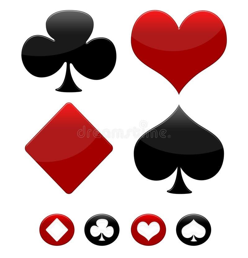 Poker game icons vector illustration