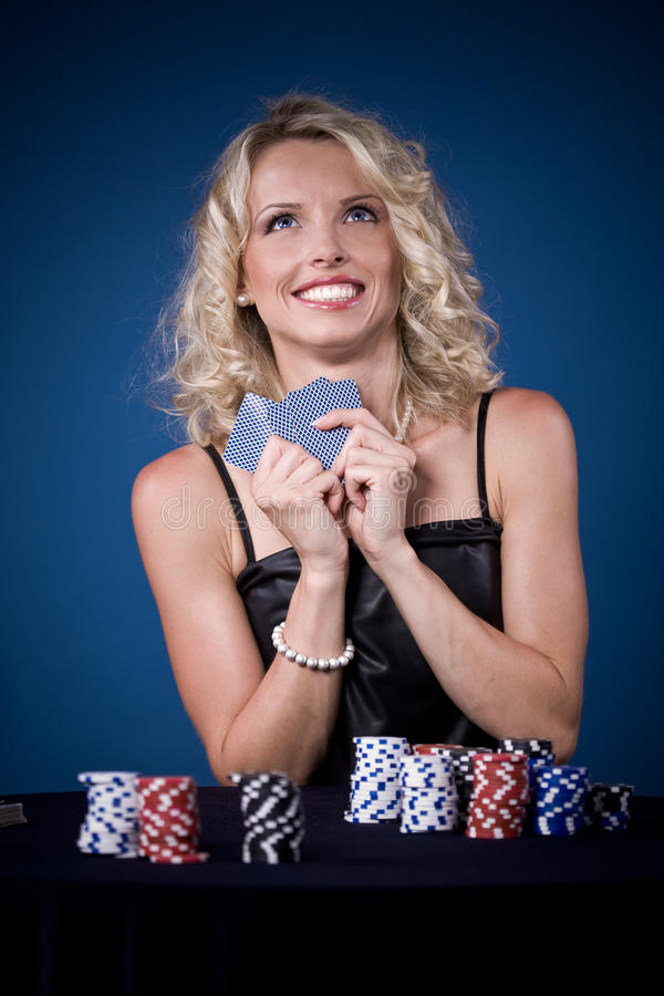 Download Poker girl stock photo. Image of girl, young, playing - 16876522