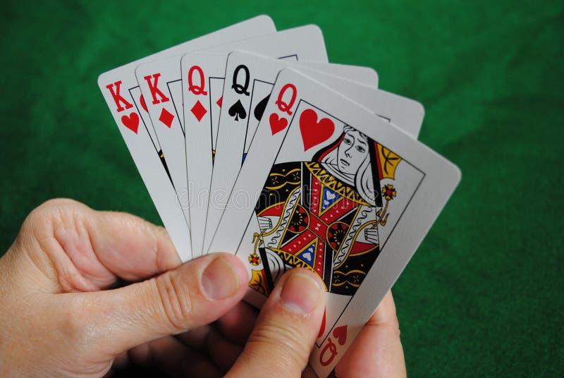 Poker Hand. A full house poker hand royalty free stock photos