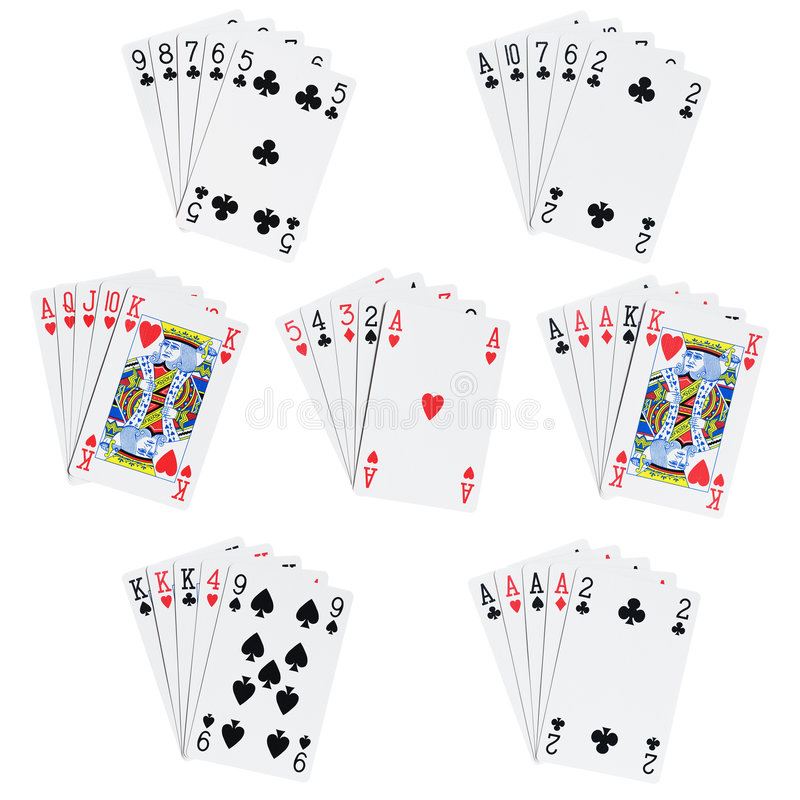 Free Poker Hands Stock Image - 3947811
