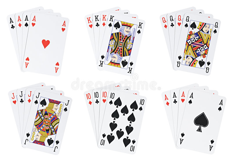 Download Poker hands stock image. Image of horizontal, chance, clipping - 4086453
