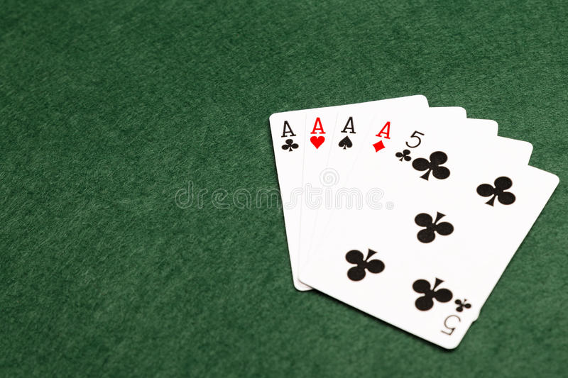 Poker Hands - Four Of A Kind stock photo