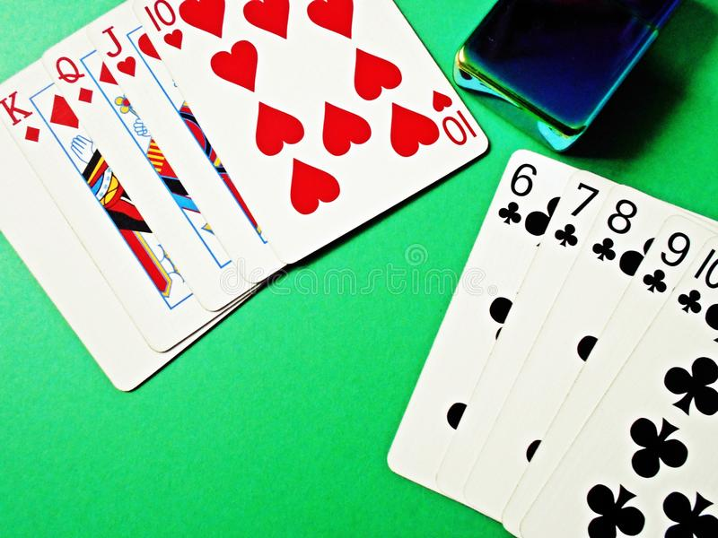 Poker Hands royalty free stock images