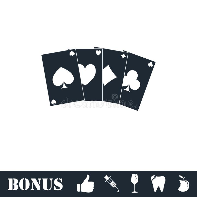 Poker icon flat vector illustration