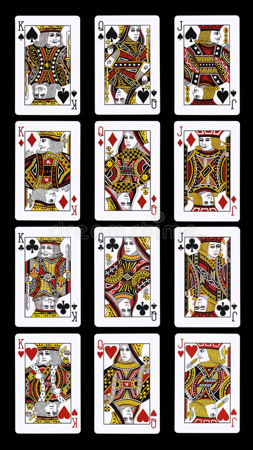 Poker J Q K Playing Cards Stock Photo Image Of Baralho