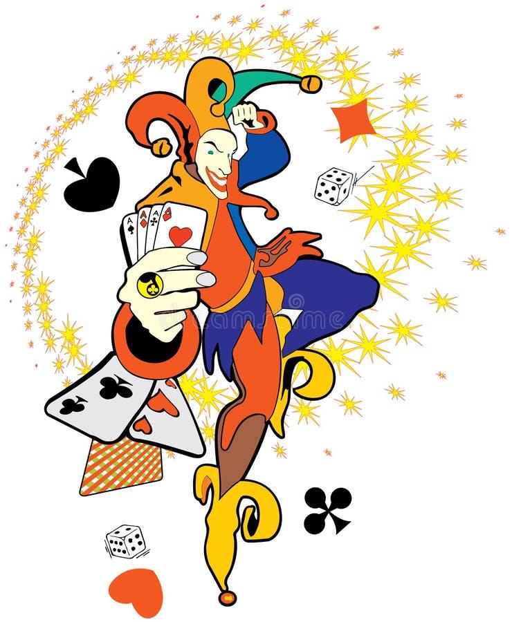 Poker Joker stock illustration. Illustration of artwork ...