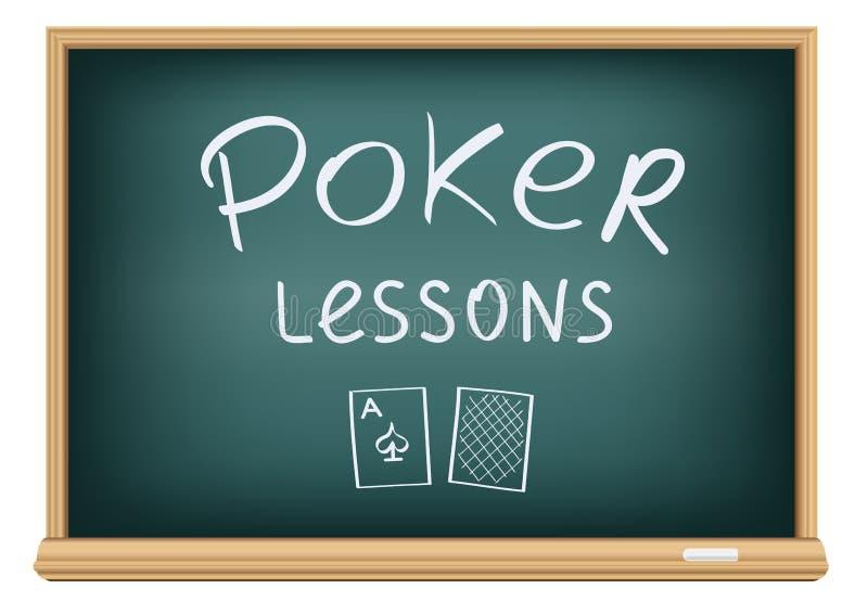 Poker lessons in school vector illustration