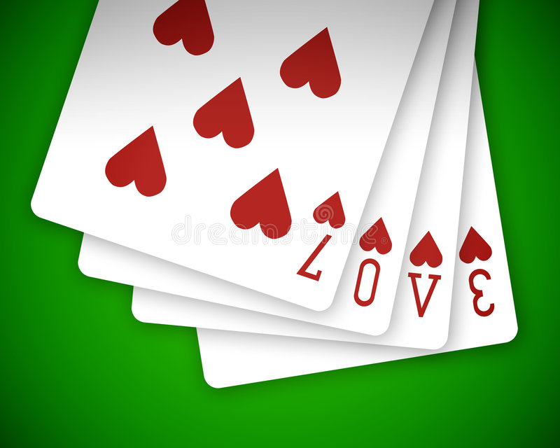 Download Poker love 01 stock photo. Image of full, isolated, darling - 8246532