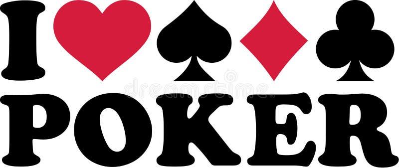 Poker med fyra dräkter av kort vektor illustrationer