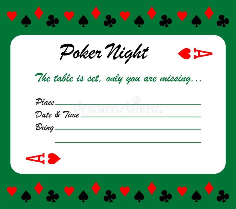 Download Poker Night Invitation Card Stock Vector - Image: 31741233