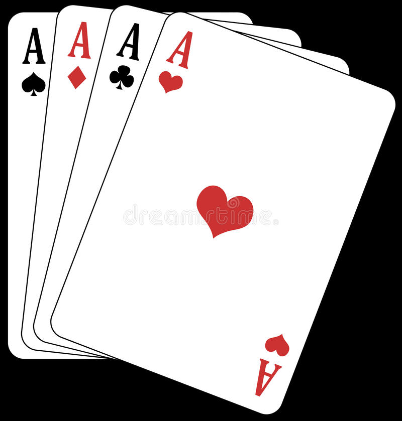 Free Poker Of Aces! Stock Images - 9681994
