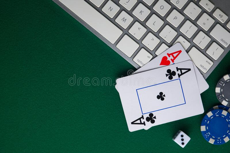 Poker Online Casino Online Gaming Business Chips Money Cards And Pc Stock Photo Image Of Fortune Betting 170148300