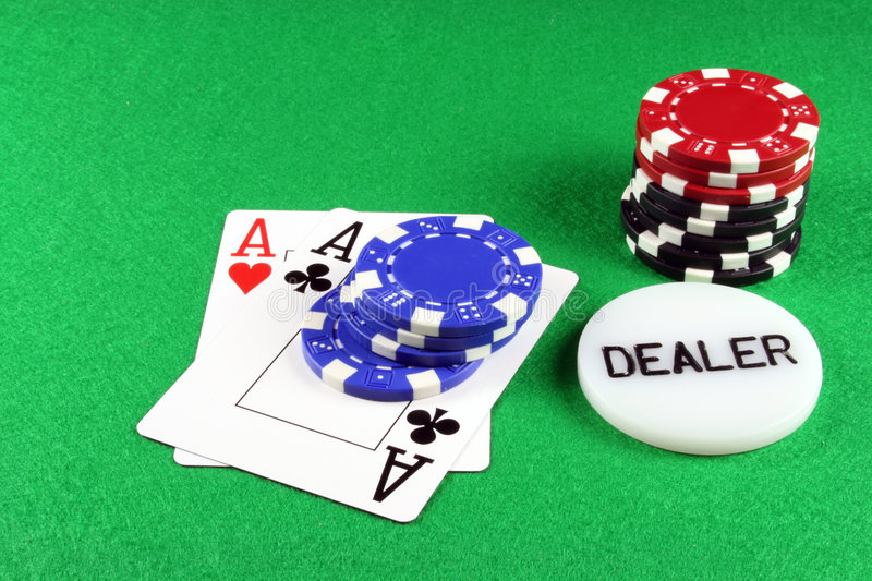 Download Poker - A Pair Of Aces With Poker Chips 5 Stock Photo - Image: 1733108
