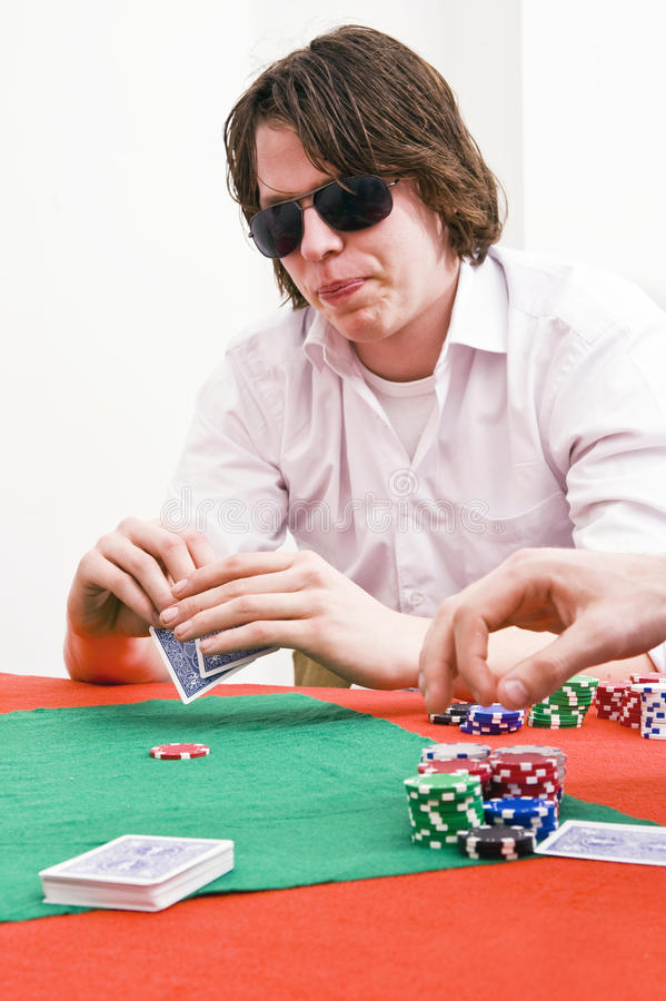 Download Poker Player Stock Image - Image: 13184541