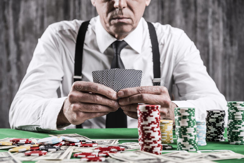 Poker player. stock images