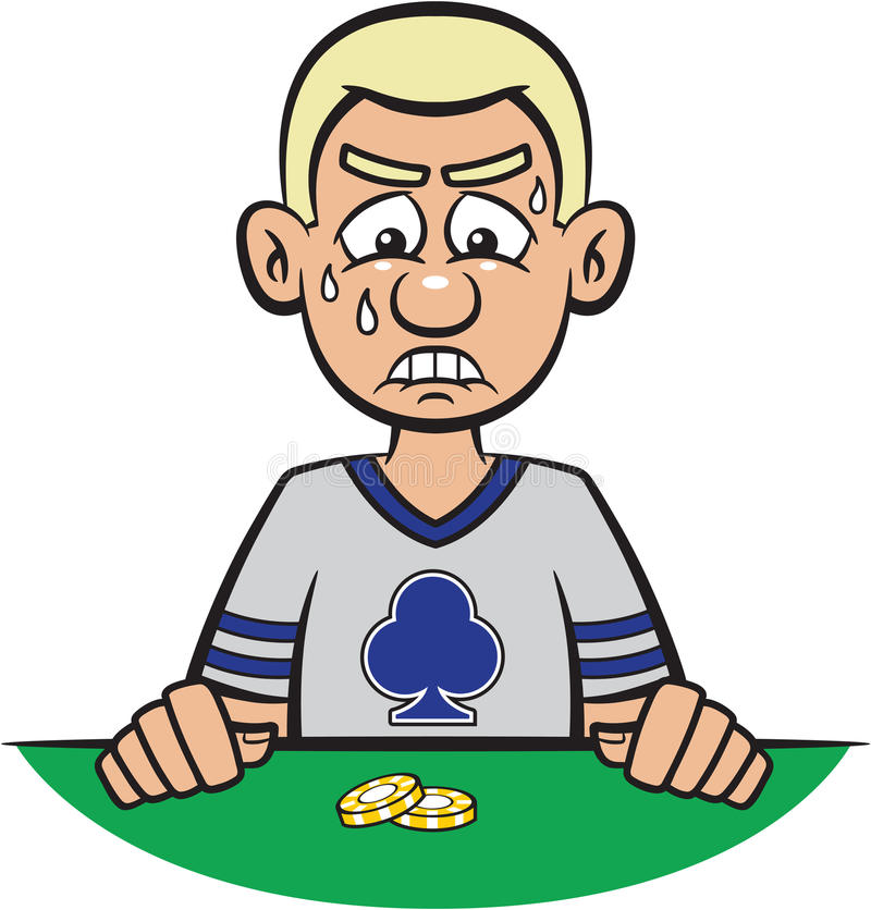Download Poker Player Losing stock vector. Image of failure, game - 13786989