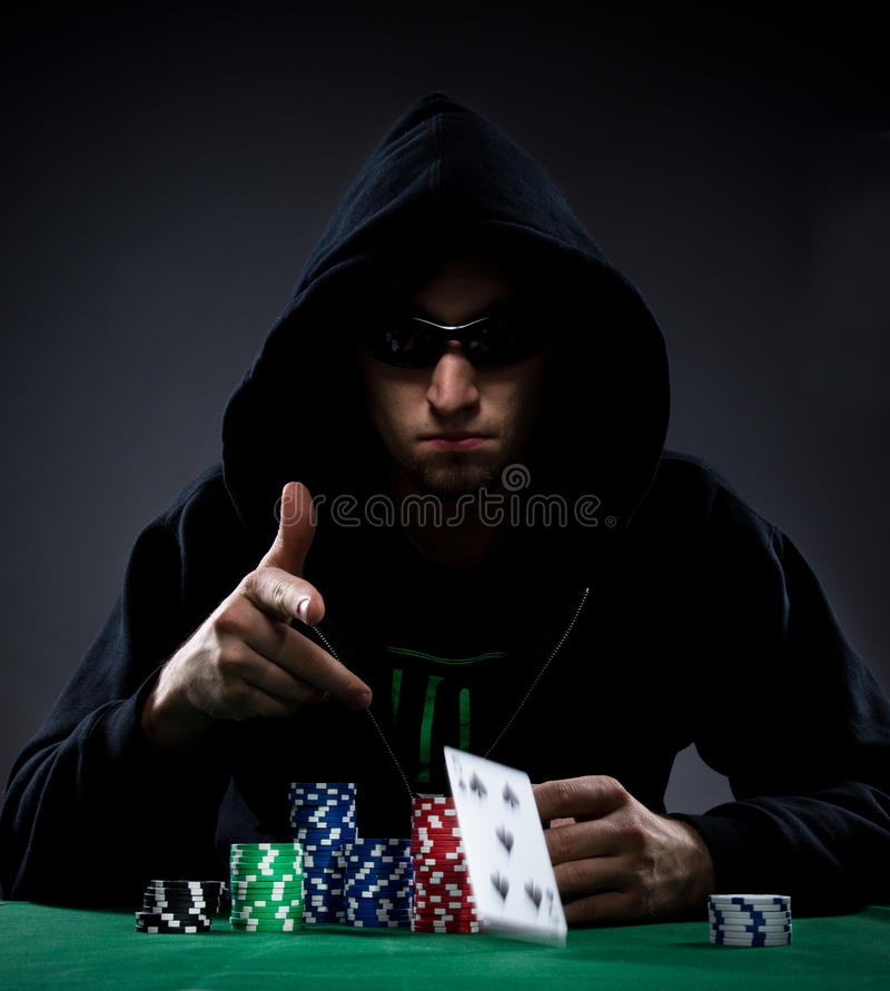 Poker player. Portrait of a professional poker player royalty free stock photos