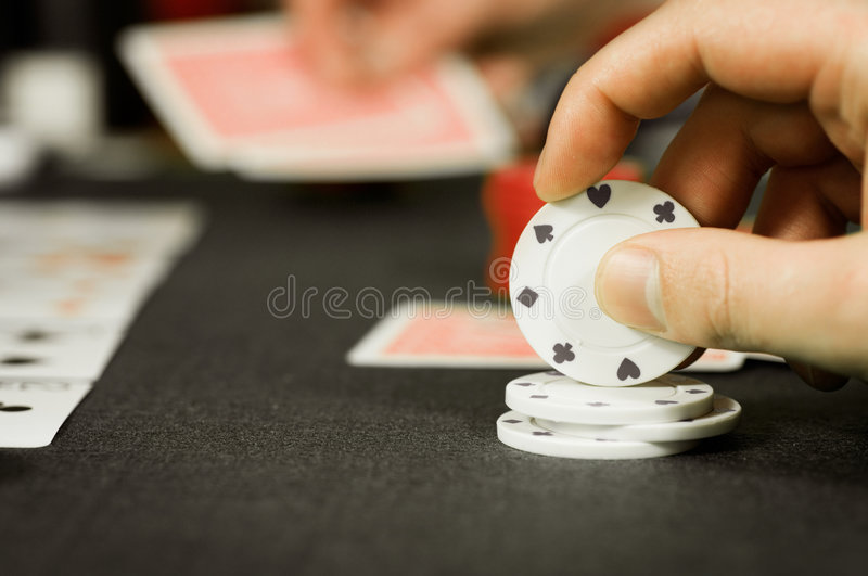Poker Players stock image