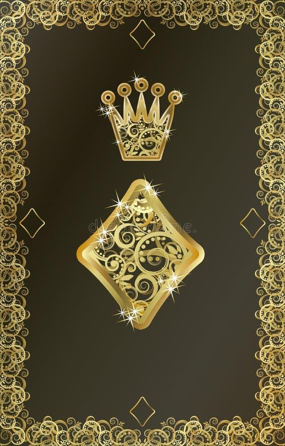 Poker playing card Diamond symbol, vector. Illustration royalty free illustration