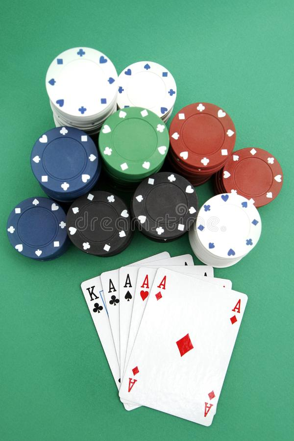 Poker playing cards royalty free stock photography