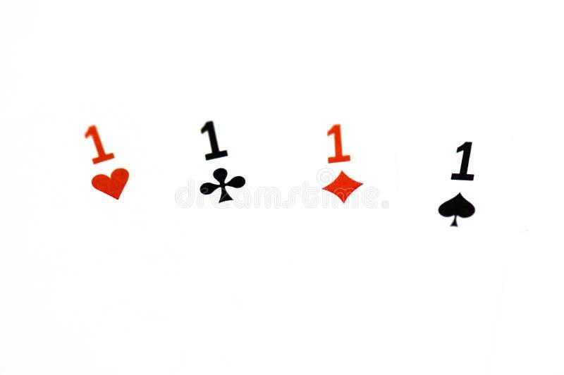 Poker Quad royalty free stock photo